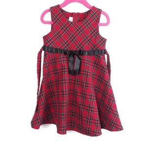 Adorable Bonnie Jean Plaid Red Dress